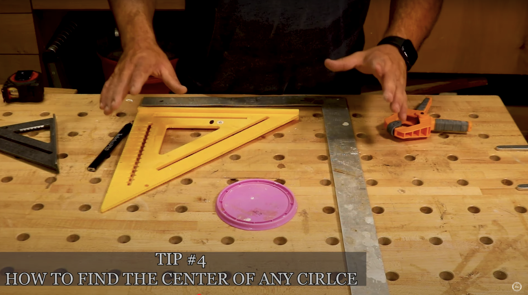 Tip #4 - Find the Center of Any Circle