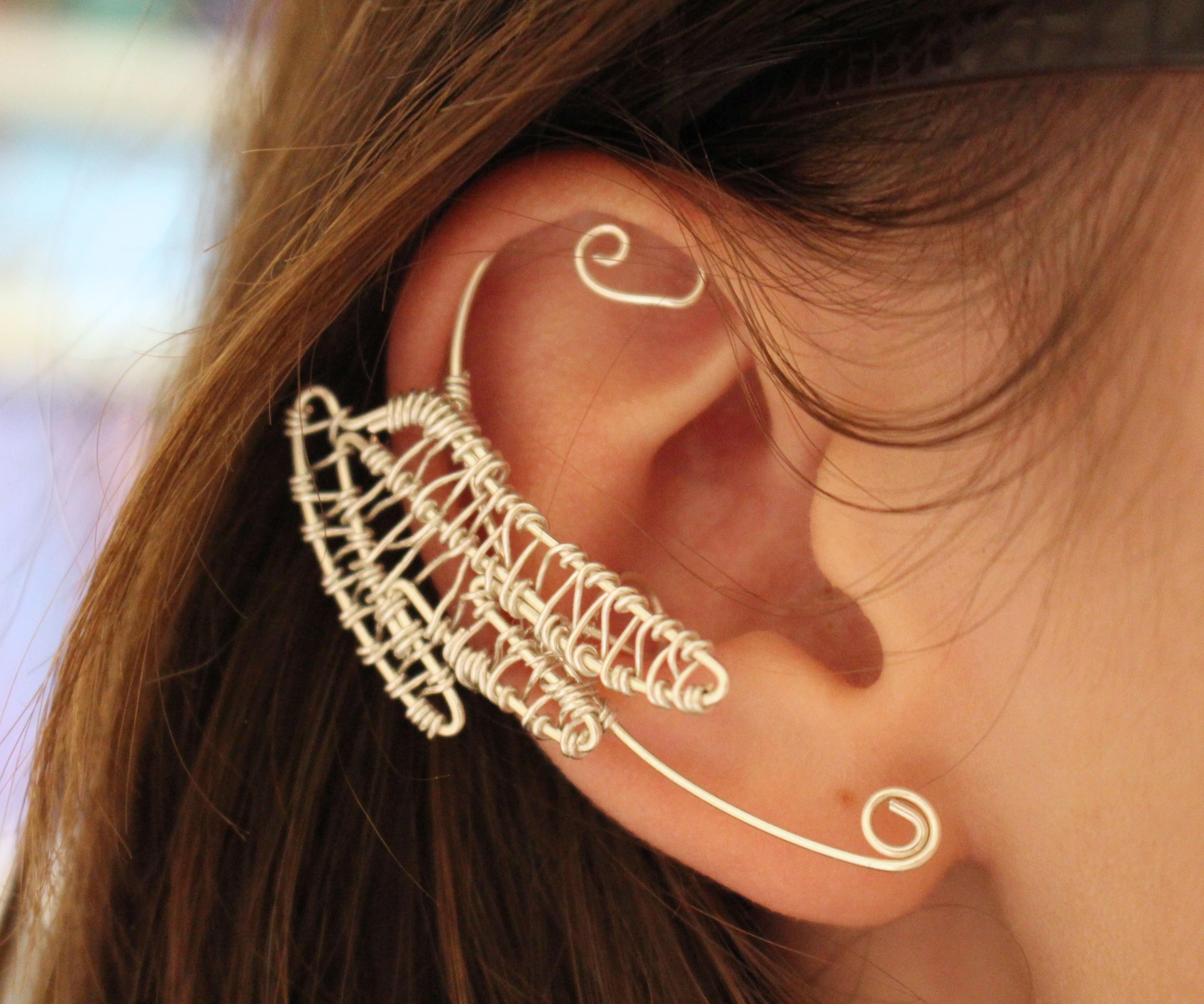 Wirework dragon ear cuff