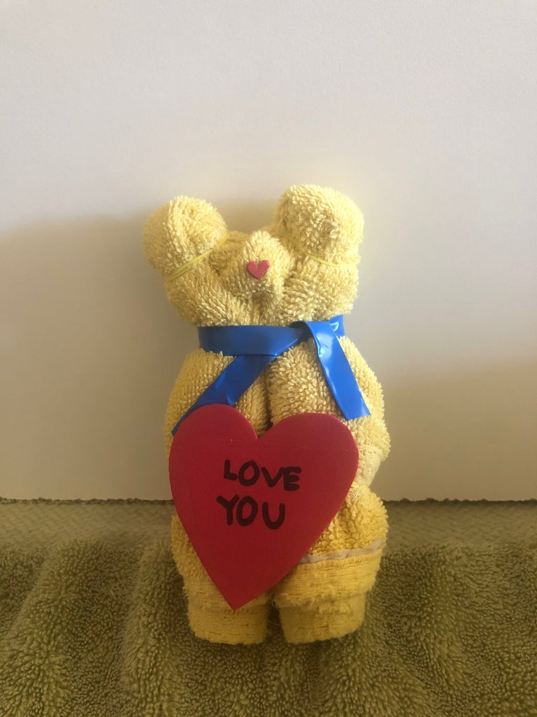 DIY Valentines Day Teddy Bears From Old Towels