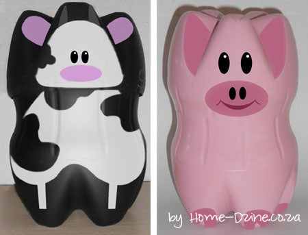 Plastic Bottles Make Great Piggy Banks!