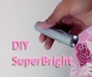DIY Rechargeable LED FlashLight Torch 18650