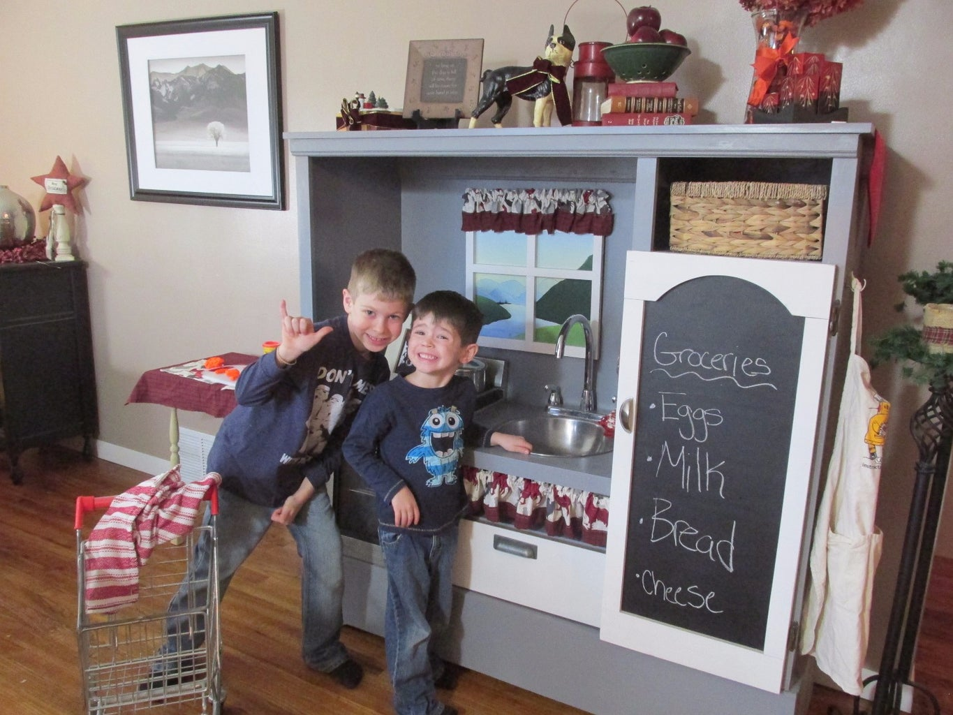Entertainment Center to Awesome Kitchen Play Set