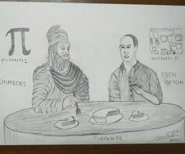 The Founders of Pi and Rasberry Pi Eating Pie Together
