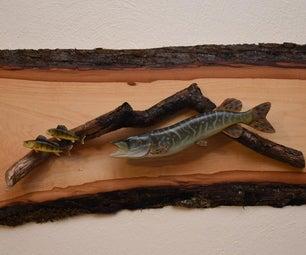 从木头上雕刻北部派克