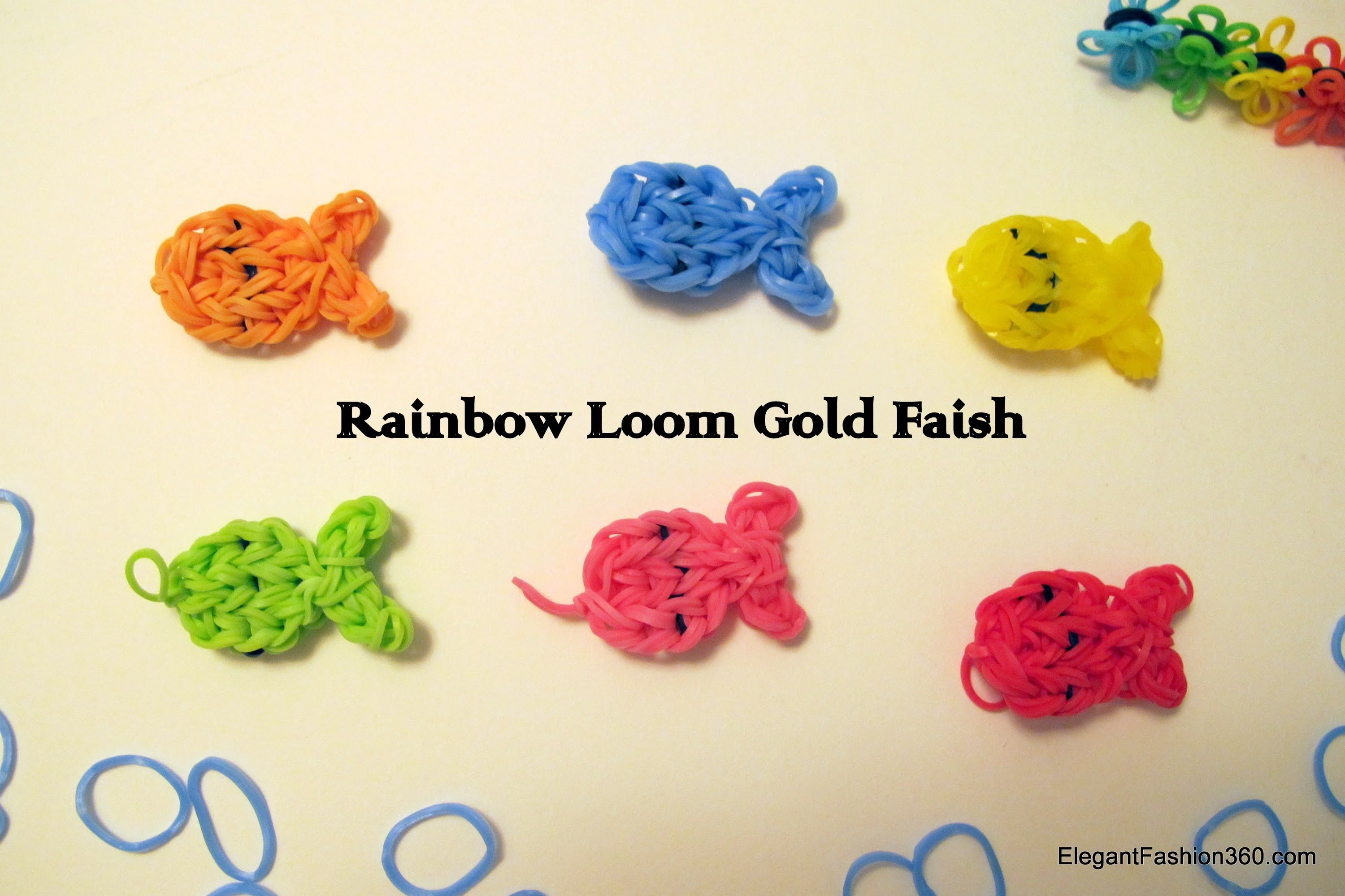 Rainbow Loom Goldfish Charm