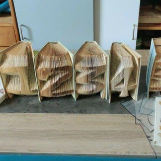 Folding Book Art - Wedding Table Numbers