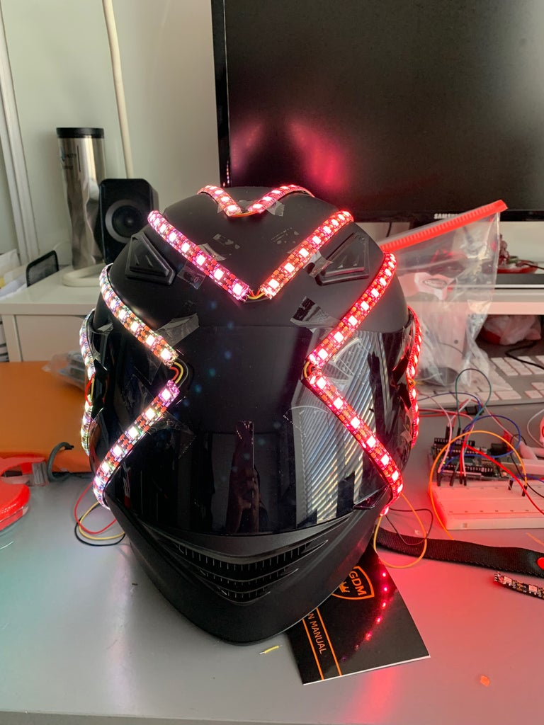 Wire and Test the LEDs on the Helmet
