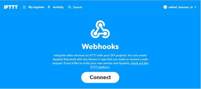 Configure Webhooks Applet: