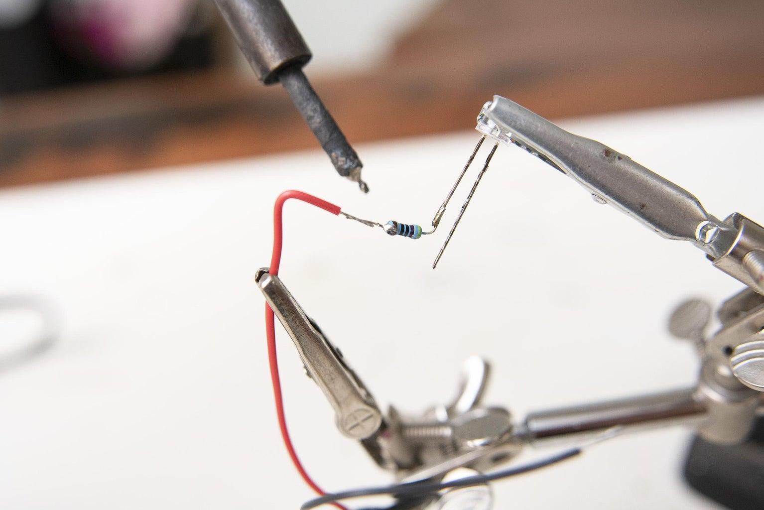 Solder Led and Resistor Together
