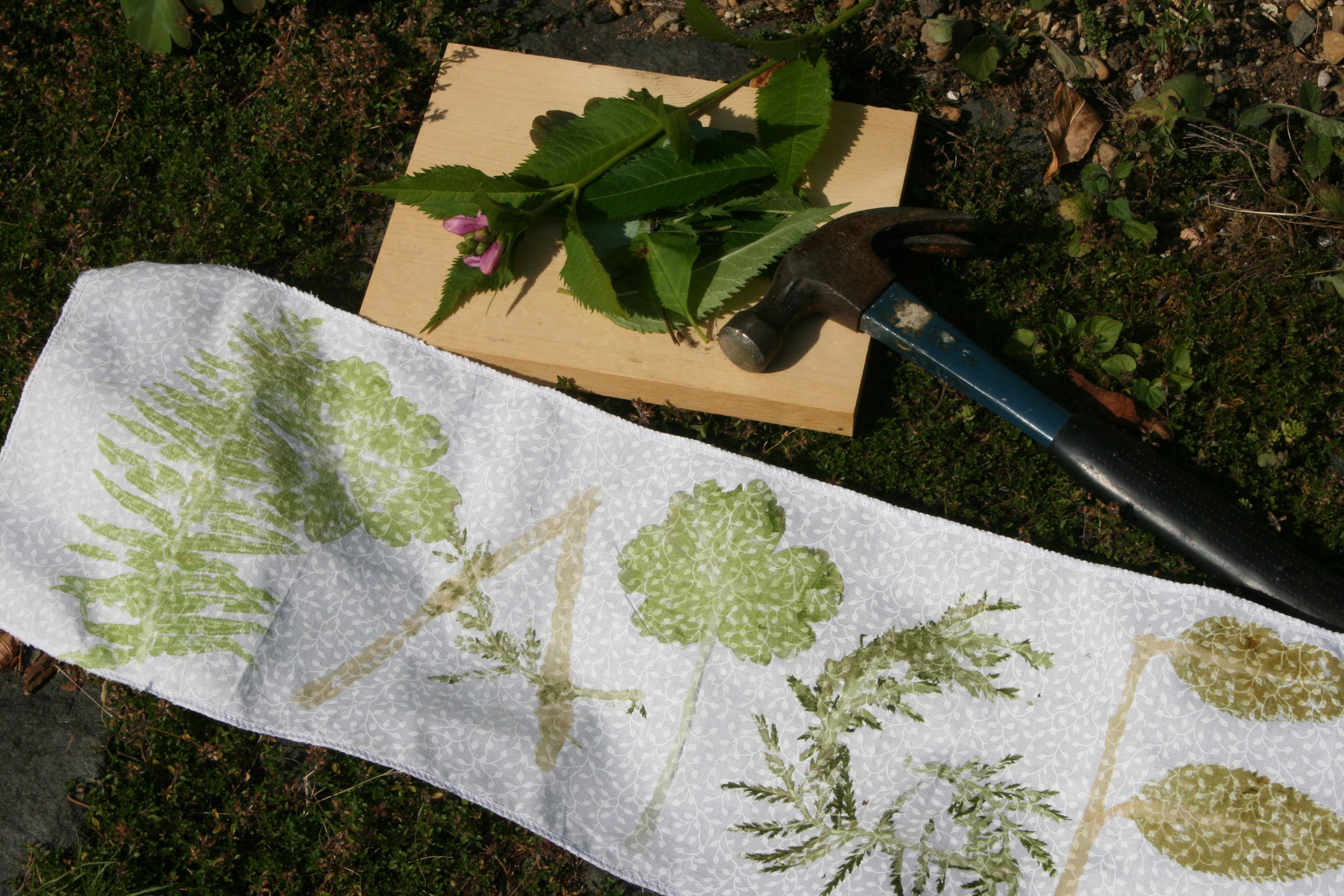 Hammering: Natural Fabric Dye