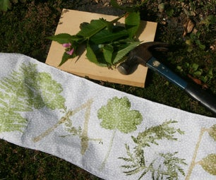 Hammering: Natural Fabric Dye