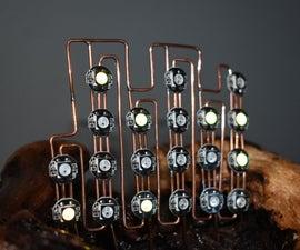 Driftwood Binary Clock