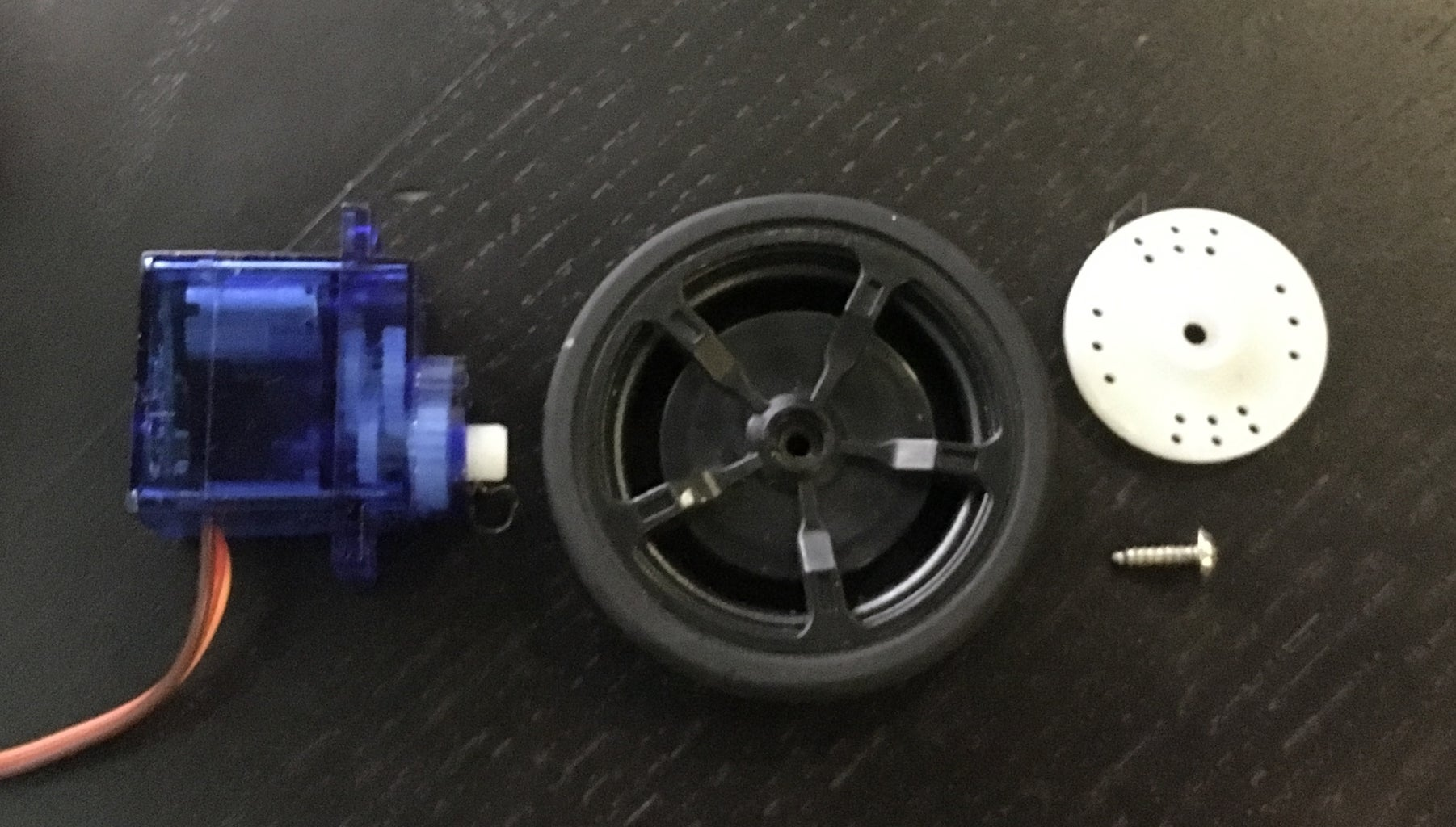 Putting the Wheels and Servos Together
