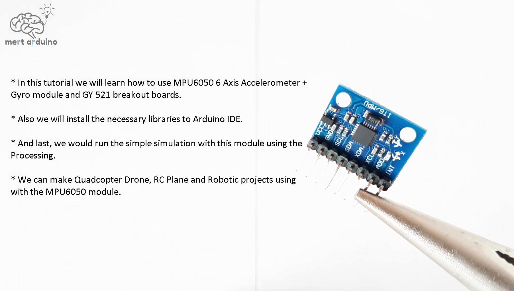 About MPU6050 Breakout Board GY-521