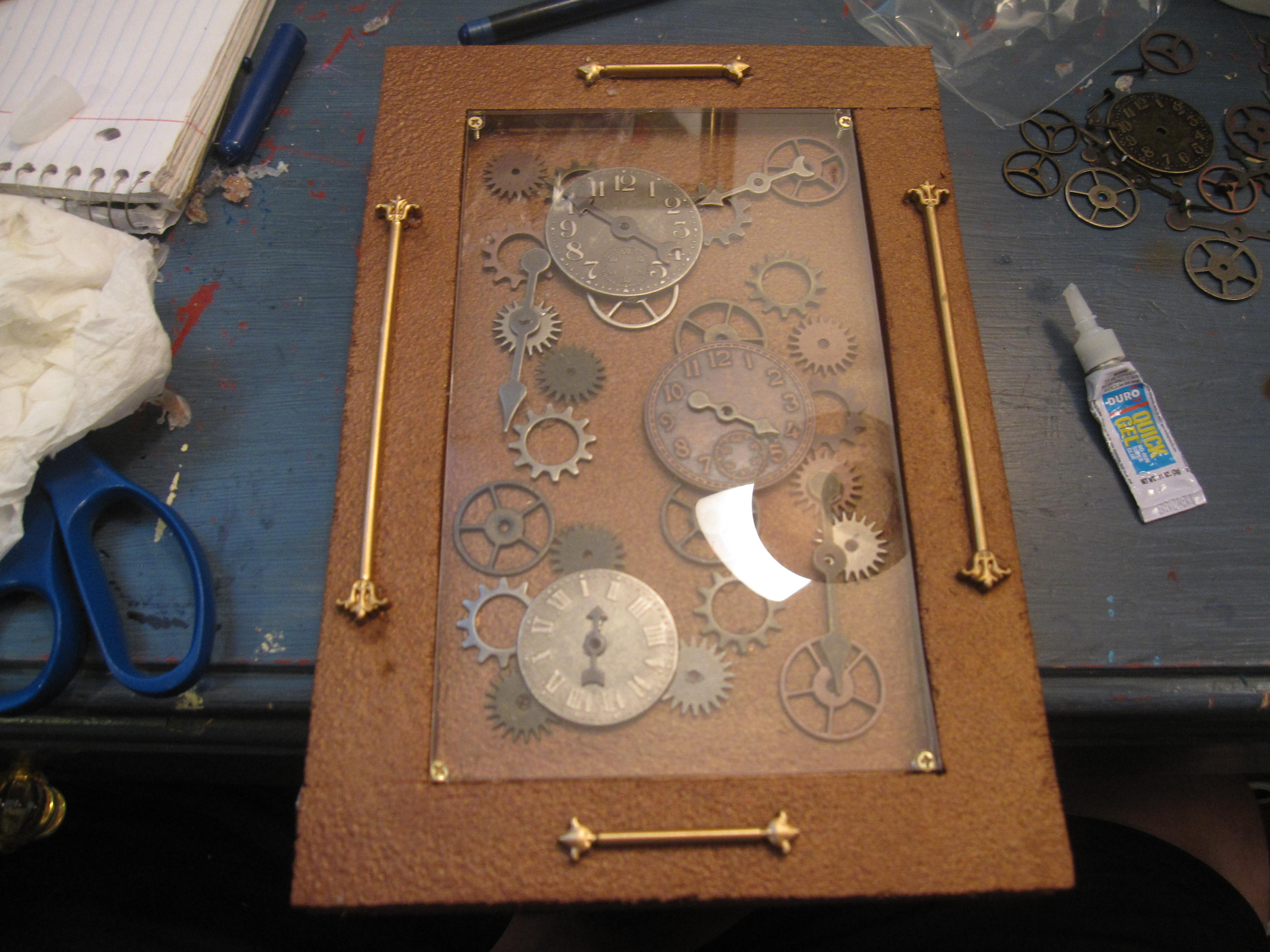 Wood Timeclock Nook Cover