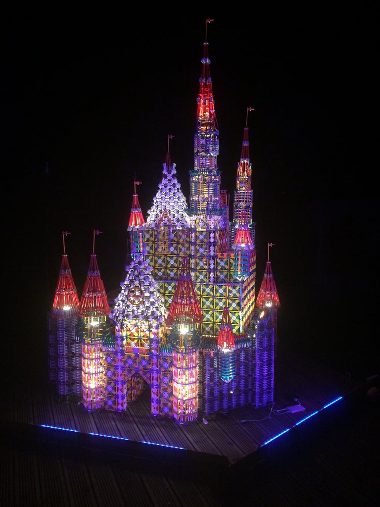 Knex Disney Castle. Night and Day.