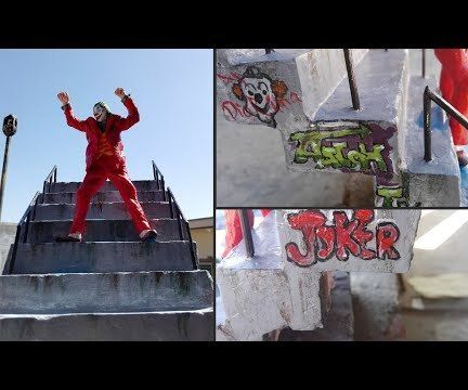 How to Make Joker Dancing on Stairs Diorama | DIY Graffiti Wall Art.