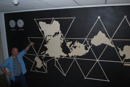 Buckminster Fuller Dymaxion Wall Relief Atlas With Lights