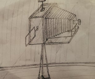 Draw a Plate Camera With Bellows