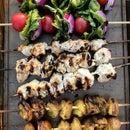 Grilled Greek Dinner Kabobs