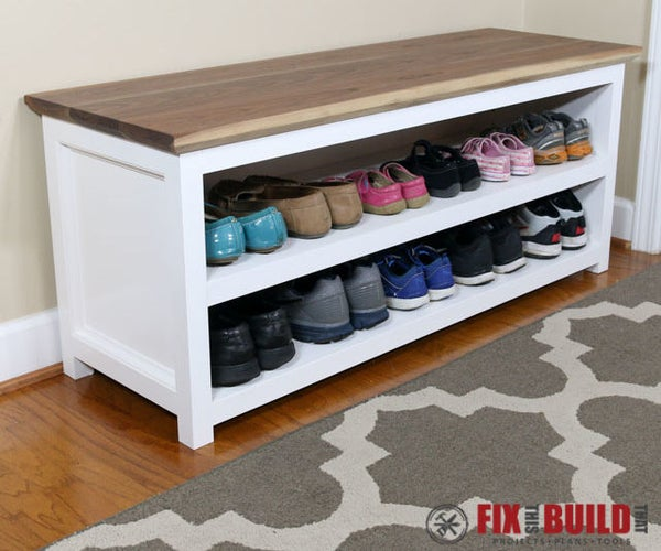 Entryway Shoe Storage Bench