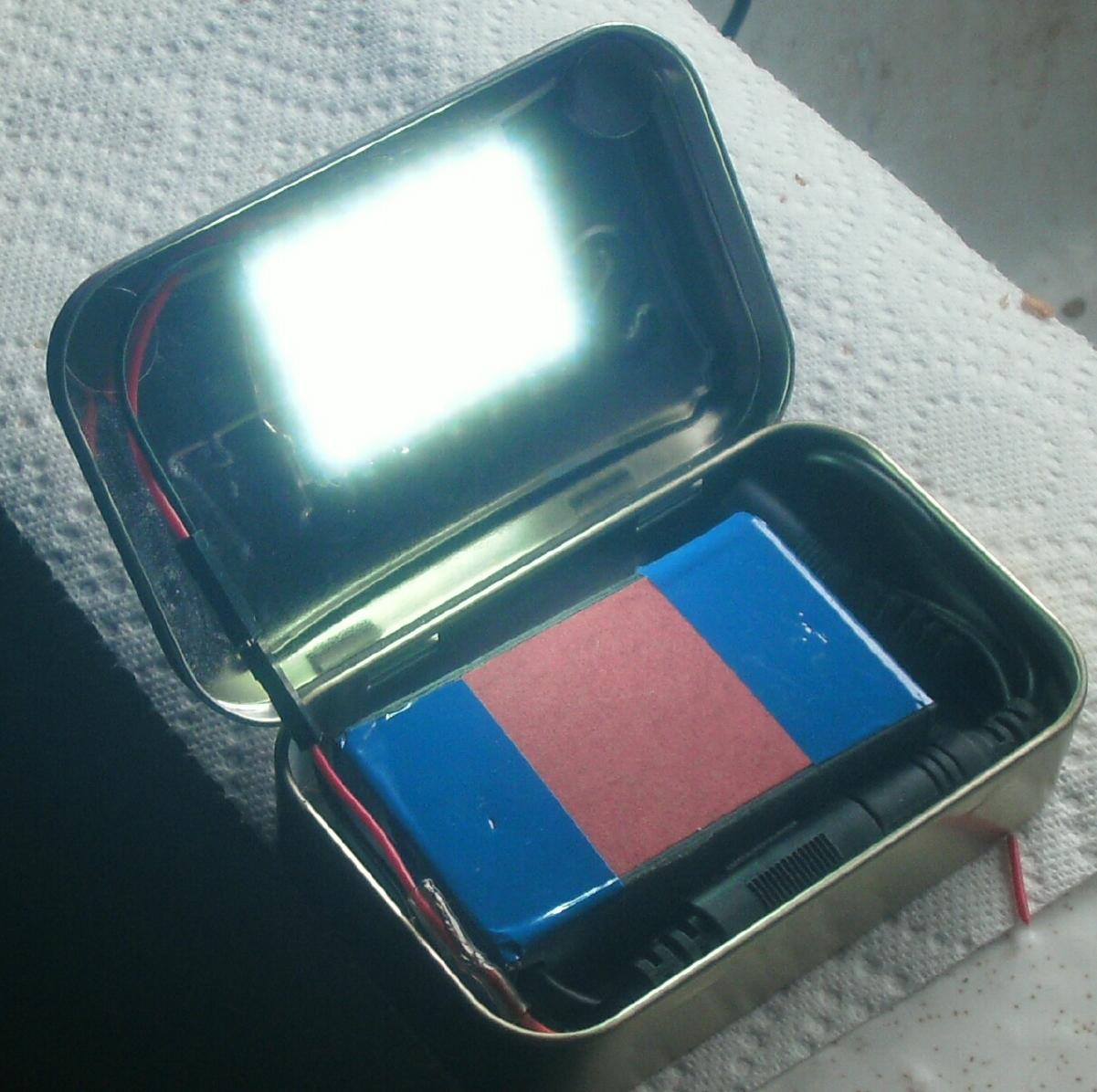 Make a Rechargeable Pocket LED Flood Light [ Altoids Tin ]