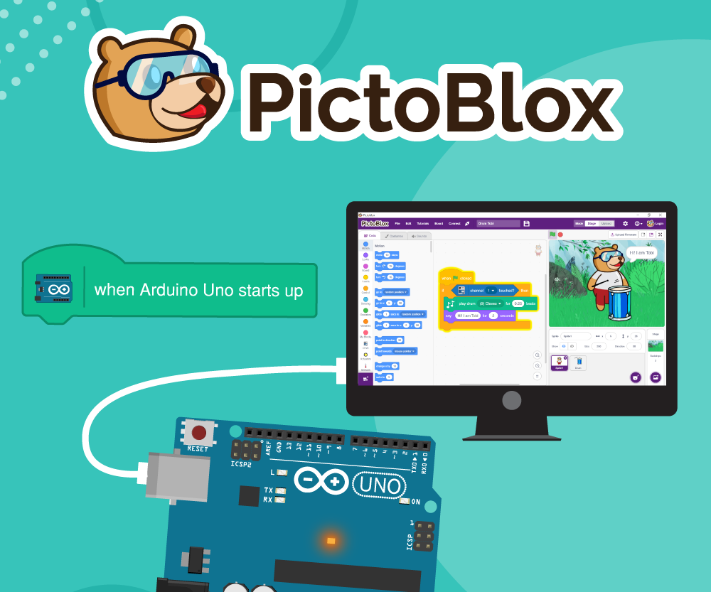 How to Interface Arduino Board to PictoBlox: Scratch Based Programming