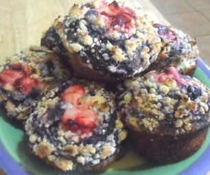 Blueberry Muffins With Streusel Topping: a Baking Attempt