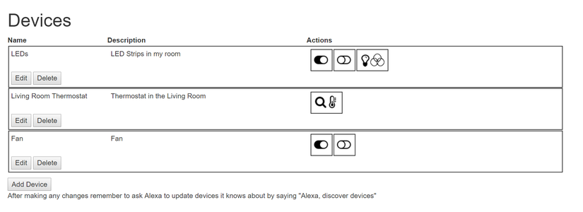 Add Devices to Alexa