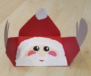 Hugging Santa Christmas Card
