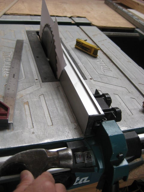Makita Table Saw Rip Arm Adjustment for Truing Timber