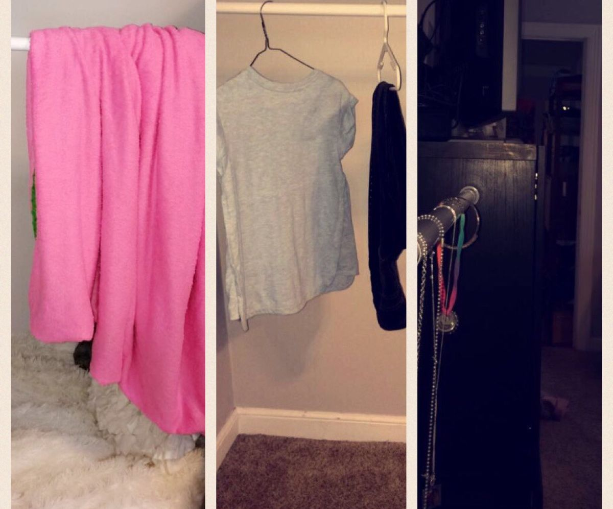 3 Uses for a Curtain Rod in Your Dorm