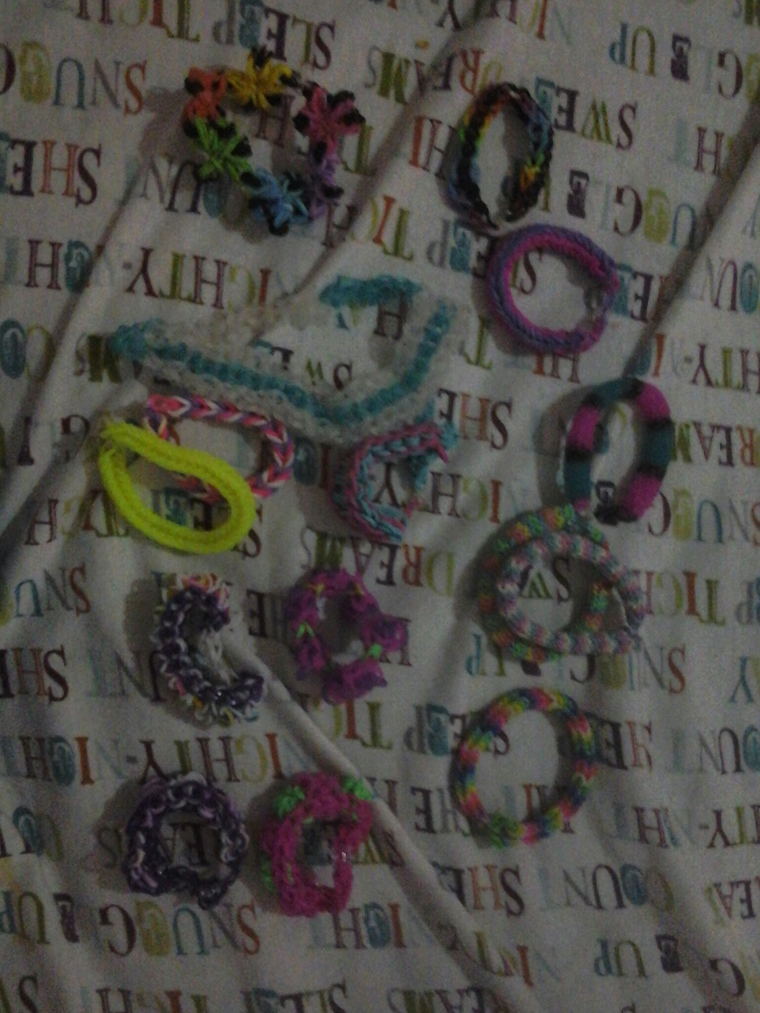 My bracelet collection tell me if you want tutorials