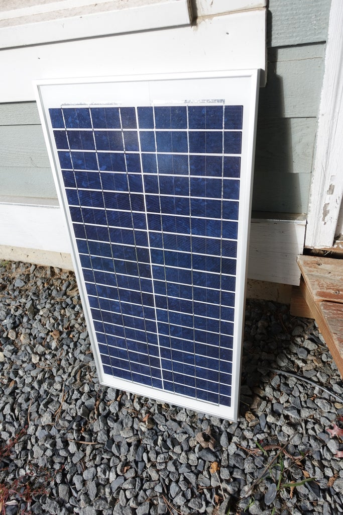 Wire Long Cable to Solar Panel