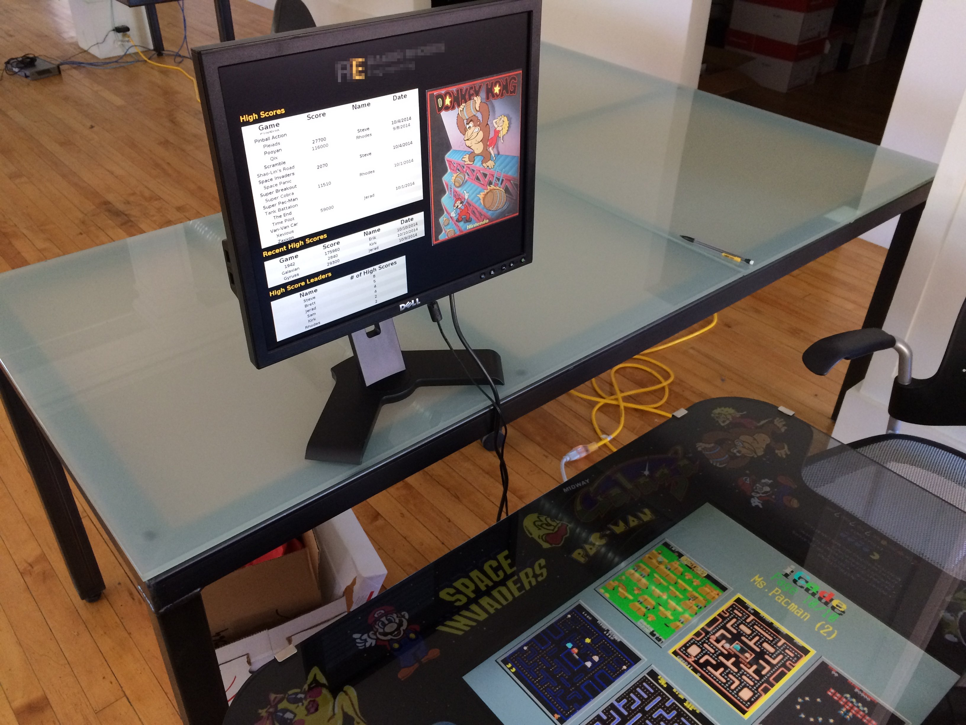 Raspberry Pi Arcade Game High Score DIsplay for Multiple Locations