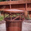 Chimney Cap from Garbage Can Lids