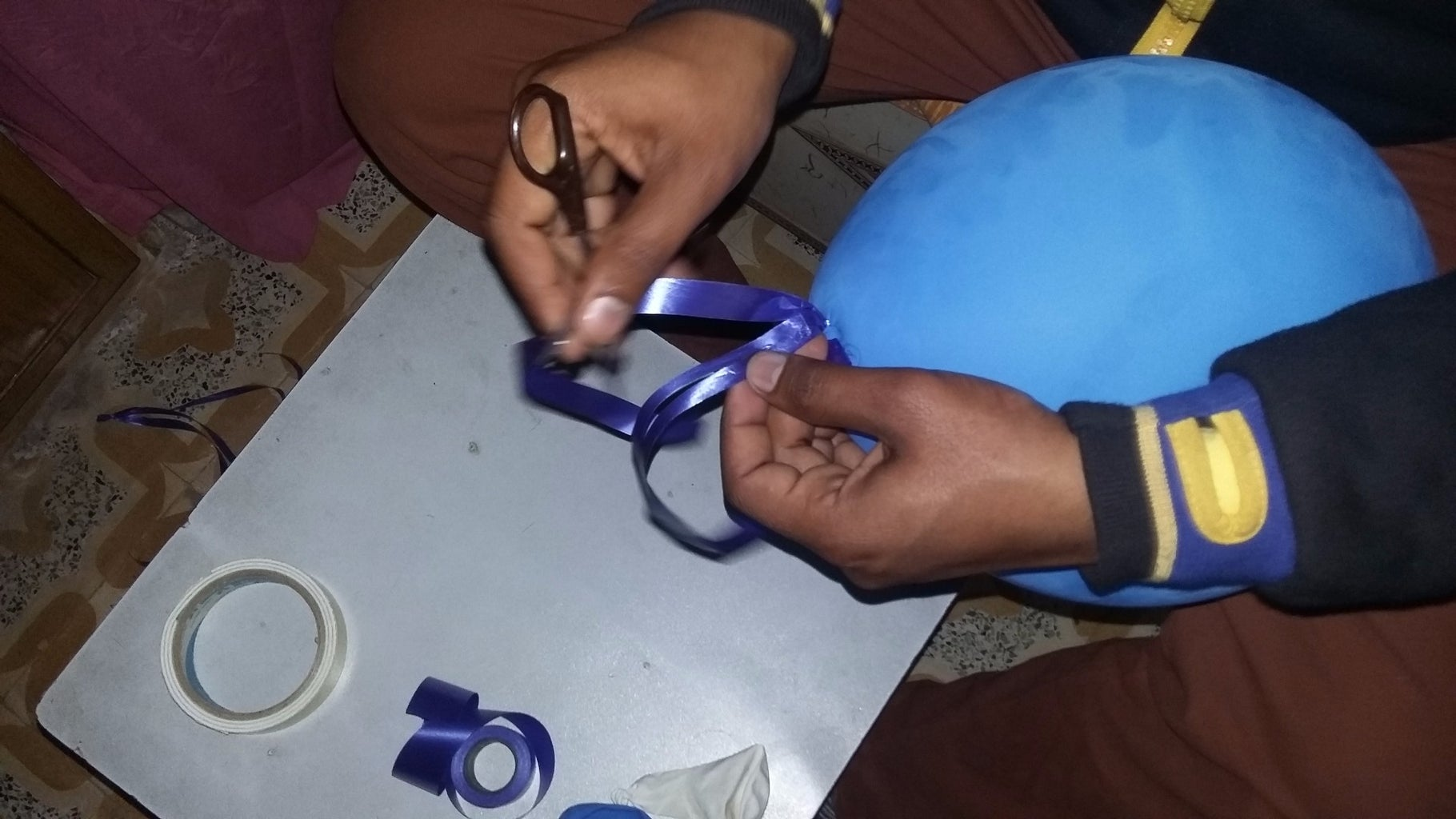Creating Tail of Balloon