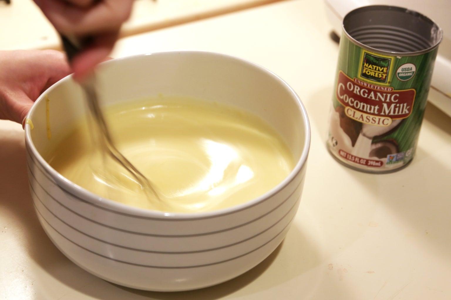 Mix in Coconut Milk