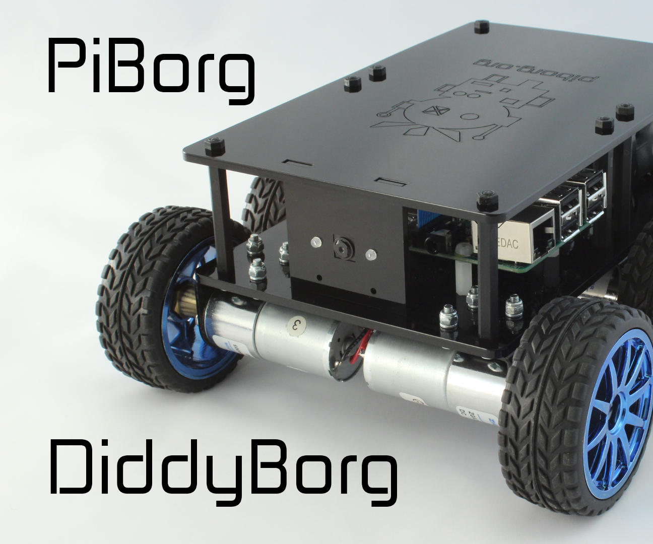 DiddyBorg: The Mini 6 wheeled Raspberry Pi Robot!
