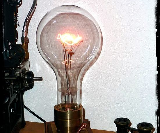 The Giant Edison - a Big Size Steampunk Lamp