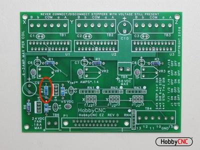 Install (1) 750R  Resistor.