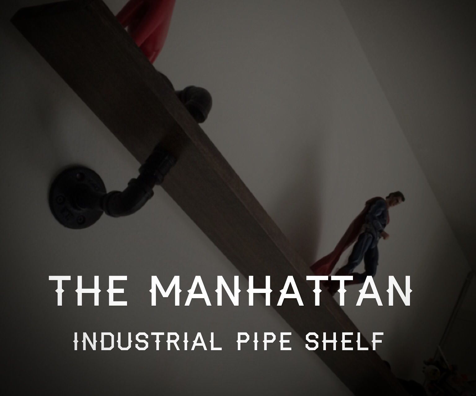 The Manhattan Industrial Pipe Shelf