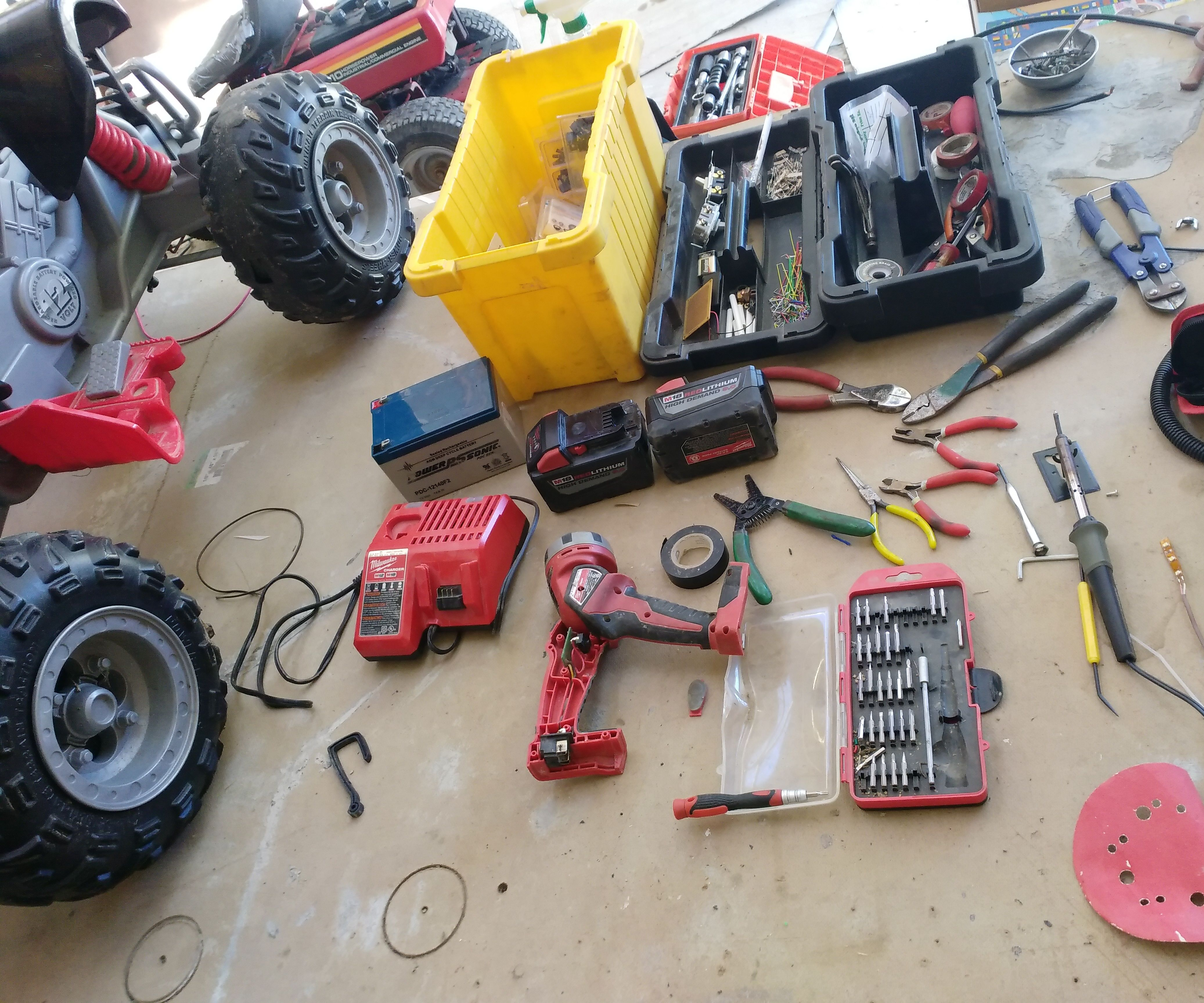 Converting Power Wheels to Run on 18v Lithium Tool Batteries
