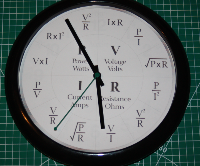 Ohms Law Clock
