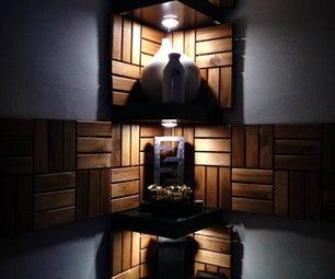 Functional Corner Wall Art Shelves