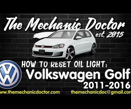 How to Reset Oil Life: Volkswagen Golf 2011, 2012 - 2016