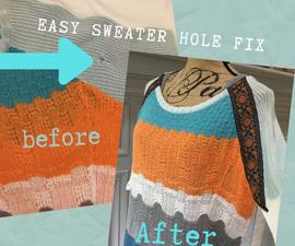 Easy Sweater Hole Fix