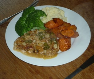 Chicken in Vermouth and Caper Sauce