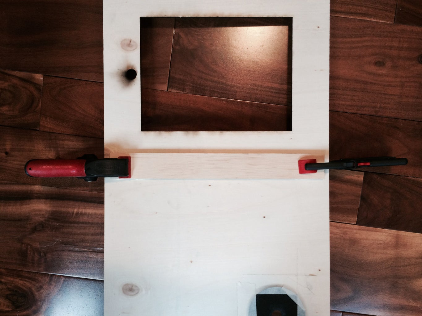 Installing the IPad Holder and Trigger Button Acrylic