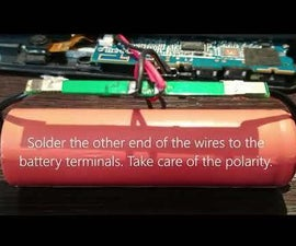 Easily Modify Android Tab Battery With 18650 LiPo Battery